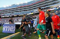 Action photo during the match Argentina vs Chile at Levis Stadium Copa America Centenario 2016. ---Foto  de accion durante el partido Argentina vs Chiler, En el Estadio de la Universidad de Phoenix, Partido Correspondiante al Grupo - D -  de la Copa America Centenario USA 2016, en la foto: Claudio Bravo<br /> --- 06/06/2016/MEXSPORT/PHOTOSPORT/ Andres Pina