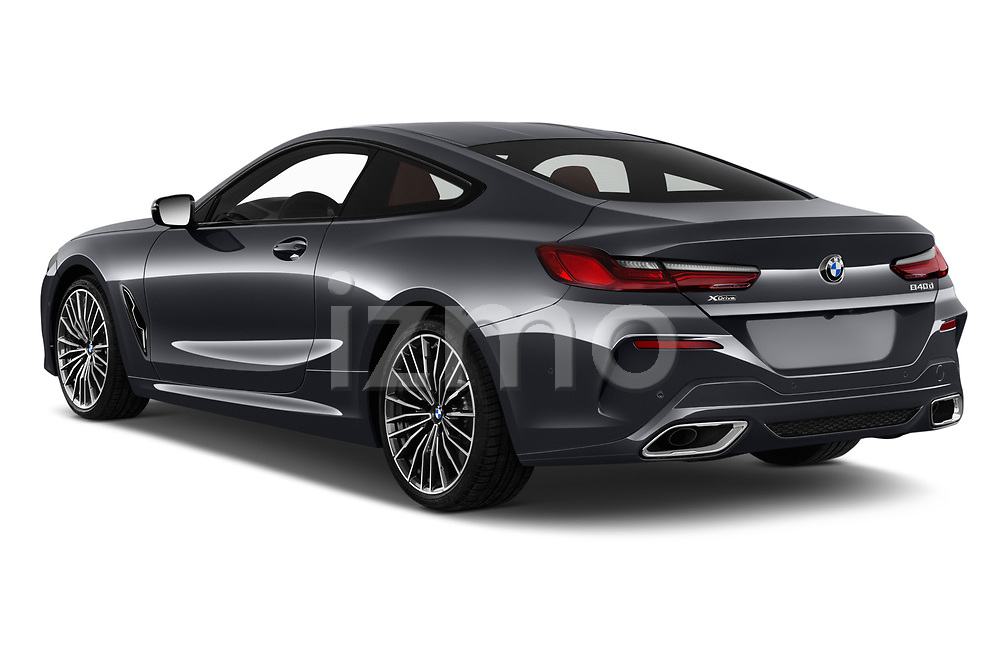 Car pictures of rear three quarter view of a 2019 BMW 8 Series M Sport 2 Door Coupe angular rear