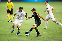 CARSON, CA - SEPTEMBER 06: Diego Rossi #9 of LAFC moves with the ball during a game between Los Angeles FC and Los Angeles Galaxy at Dignity Health Sports Park on September 06, 2020 in Carson, California.