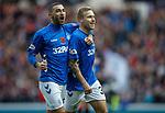 11.11.18 Rangers v Motherwell: Scott Arfield celebrates with Eros Grezda