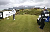 27 May 2015; Rory McIlroy tees off at the 9th<br /> <br /> Dubai Duty Free Irish Open Golf Championship 2015, Pro-Am. Royal County Down Golf Club, Co. Down. Picture credit: John Dickson / DICKSONDIGITAL