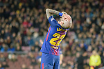 Aleix Vidal of FC Barcelona reacts during the La Liga 2017-18 match between FC Barcelona and Deportivo La Coruna at Camp Nou Stadium on 17 December 2017 in Barcelona, Spain. Photo by Vicens Gimenez / Power Sport Images