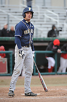 Pittsburgh Panthers outfielder Stephen Vranka (21) during game against the St. John's Redstorm at Jack Kaiser Stadium on March 22, 2013 in Queens, New York.  Pittsburgh defeated St. John's 12-9.  (Tomasso DeRosa/Four Seam Images)