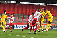 Charlie Carter of Stevenage FC  during Stevenage vs Concord Rangers , Emirates FA Cup Football at the Lamex Stadium on 7th November 2020