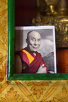 Image of the Dalai Lama at Thiksey Monastery near Leh, Ladakh