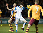 Motherwell v St Johnstone…06.02.18…  Fir Park…  SPFL<br />Murray Davidson battles with Andy Rose<br />Picture by Graeme Hart. <br />Copyright Perthshire Picture Agency<br />Tel: 01738 623350  Mobile: 07990 594431