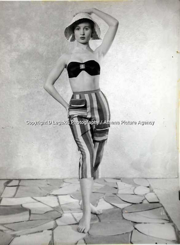 Pictured: A copy picture of former Tiller girl Pat Stewart when she was 17 or 18 years old. She was photographed by Bert Hardy in an iconic picture at Blackpool seafront in the 50ies and now lives in a static caravan in Llantwit Major in south Wales. Monday 20 June 2011