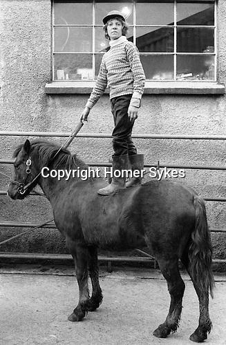 Hatherleigh Devon. England 1973. Horse sale.