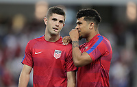 Orlando, FL - Friday Oct. 06, 2017: Christian Pulisic, DeAndre Yedlin during a 2018 FIFA World Cup Qualifier between the men's national teams of the United States (USA) and Panama (PAN) at Orlando City Stadium.