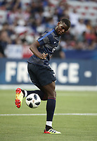 International friendly football match France vs Italy, Allianz Riviera, Nice, France, June 1, 2018. <br /> France's Paul Pogba warms up prior to the international friendly football match between France and Italy at the Allianz Riviera in Nice on June 1, 2018.<br /> UPDATE IMAGES PRESS/Isabella Bonotto