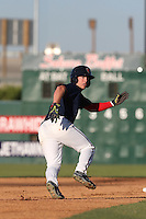 Brett Phillips (6) of the Lancaster JetHawks runs the bases during a game against the Visalia Rawhide at The Hanger on June 16, 2015 in Lancaster, California. Lancaster defeated Visalia, 11-3. (Larry Goren/Four Seam Images)