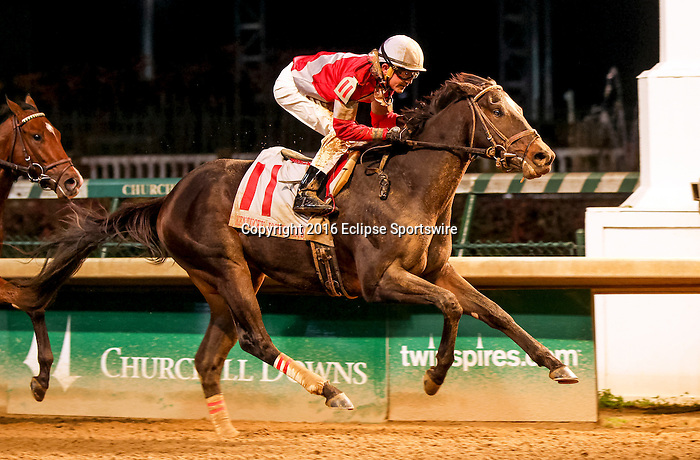 LOUISVILLE, KY -NOV 26: McCraken (jockey Brian J. Hernandez Jr.) wins the 90th running of the G2 Kentucky Jockey Club Stakes at Churchill Downs, Louisville, Kentucky. Owner Whitham Thoroughbreds LLC (Janis R. Whitham), trainer Ian R. Wilkes. By Ghostzapper x Ivory Empress, by Seeking the Gold. (Photo by Mary M. Meek/Eclipse Sportswire/Getty Images)