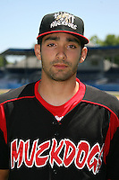 June 16, 2009:  John Folino of the Batavia Muckdogs poses for a head shot before the teams practice at Dwyer Stadium in Batavia, NY.  The Batavia Muckdogs are the NY-Penn League Single-A affiliate of the St. Louis Cardinals.  Photo by:  Mike Janes/Four Seam Images
