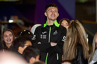 Pictured: Freddie Woodman of Swansea City during the Swansea player and fans bowling evening at Tenpin Swansea, Swansea, Wales, UK. Wednesday 22 January 2020