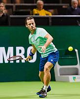 Rotterdam, The Netherlands, 12 Februari 2019, ABNAMRO World Tennis Tournament, Ahoy, first round singles: Wesley Koolhof (NED),<br /> Photo: www.tennisimages.com/Henk Koster