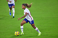 18th February 2021, Orlando, Florida, USA;  United States midfielder Catarina Macario (11) dribbles the ball during a SheBelieves Cup game between Canada and the United States on February 18, 2021 at Exploria Stadium in Orlando, FL.