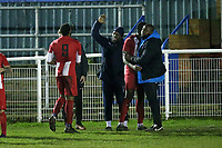 Asher Modeste of Clapton scores the fourth goal for his team and celebrates with his team mates during Redbridge vs Clapton, Essex Senior League Football at Oakside Stadium on 31st January 2020