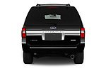 Straight rear view of 2017 Ford Expedition Limited 5 Door SUV Rear View  stock images