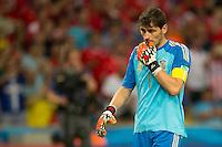 Goalkeeper Iker Casillas of Spain
