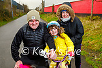 Eoin, Olivia and Ann Keliher enjoying a stroll on the greenway on Lower Rock Street on Sunday.
