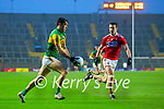 David Clifford, Kerry in action against Maurice Shanley, Cork, during the Munster GAA Football Senior Championship Semi-Final match between Cork and Kerry at Páirc Uí Chaoimh in Cork.