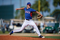 Evan Vanek during the WWBA World Championship at the Roger Dean Complex on October 21, 2018 in Jupiter, Florida.  Evan Vanek is a right handed pitcher from Frisco, Texas who attends Heritage High School and is committed to Texas A&M.  (Mike Janes/Four Seam Images)