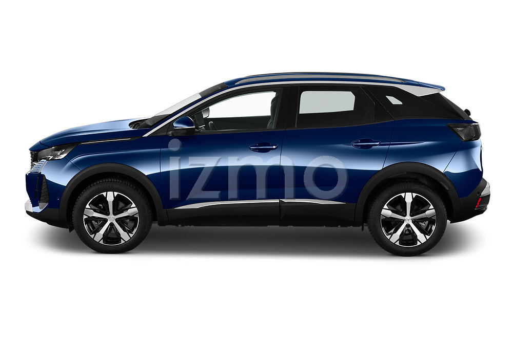 Car Driver side profile view of a 2021 Peugeot 3008 Allure 5 Door SUV Side View