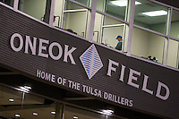 August 19,2010 OneOk field during the MiLB game between the Midland RockHounds and the Tulsa Drillers at OneOk Field in Tulsa Oklahoma.