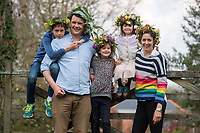 BNPS.co.uk (01202 558833)<br /> Pic: ZacharyCulpin/BNPS <br /> <br /> Weather input - <br /> <br /> Crowning glories: Dorset Flower Farmers, the Priestley family perfect their flower crown-making ahead of Garden Day on Sunday 9th May, the nationwide celebration of the benefits of gardens for health and wellbeing.  <br /> <br /> Pictured: The Priestley family show off their flower crowns <br /> Garden Day will be back for a third successive year on Sunday, 9th May 2021 to celebrate outdoor and indoor garden spaces. The nationwide  movement is calling on plant-lovers to make a flower crown, and share their plant spaces with family and<br /> friends