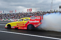 Jun. 1, 2012; Englishtown, NJ, USA: NHRA funny car driver Jack Beckman during qualifying for the Supernationals at Raceway Park. Mandatory Credit: Mark J. Rebilas-