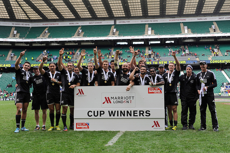during Day Two of the iRB Marriott London Sevens at Twickenham on Sunday 11th May 2014 (Photo by Rob Munro)