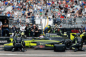 2017 Verizon IndyCar Series - Firestone Grand Prix of St. Petersburg<br /> St. Petersburg, FL USA<br /> Sunday 12 March 2017<br /> Charlie Kimball pit stop<br /> World Copyright:Sam Cobb/LAT Images<br /> ref: Digital Image cobb-stpete-170312-4338