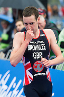 15 SEP 2013 - LONDON, GBR - Alistair Brownlee (GBR) of Great Britain finishes the elite men's ITU 2013 World Triathlon Series Grand Final in Hyde Park in London, Great Britain (PHOTO COPYRIGHT © 2013 NIGEL FARROW, ALL RIGHTS RESERVED)