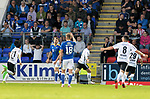 St Johnstone v Lask…26.08.21  McDiarmid Park    Europa Conference League Qualifier<br />Husein Balic celebrates his goal<br />Picture by Graeme Hart.<br />Copyright Perthshire Picture Agency<br />Tel: 01738 623350  Mobile: 07990 594431