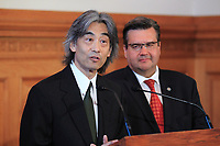 FILE PHOTO - Montreal Symphonic Orchestra Director ; maestro Kent Nagano in August 2015.<br /> <br /> PHOTO : Pierre Roussel - Agence Quebec Presse