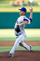 Josh Sullivan (13) of the Tulsa Drillers delivers a pitch during a game against the Springfield Cardinals at Hammons Field on July 18, 2011 in Springfield, Missouri. Tulsa defeated Springfield 13-8. (David Welker / Four Seam Images)
