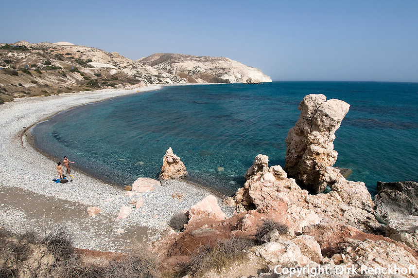 Zypern (Süd), Strand beim Felsen der Aphrodite, Petra tou Romiou