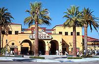 """Ballparks: San Bernardino Ballpark, """"The Ranch"""" facade."""