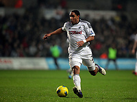 Pictured: Ashley Williams of Swansea. Saturday 31 December 2011<br /> Re: Premier League football Swansea City FC v Tottenham Hotspur at the Liberty Stadium, south Wales.