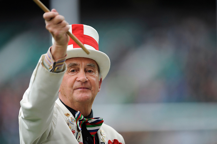 Peter Cross, Mr England Rugby, during the match between England and Barbarians at Twickenham Stadium on Sunday 31st May 2015 (Photo by Rob Munro)