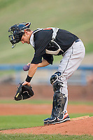 Caleb Joseph #51 of the Frederick Keys uses the rosin bag on his arm at Wake Forest Baseball Stadium August 6, 2009 in Winston-Salem, North Carolina. (Photo by Brian Westerholt / Four Seam Images)