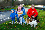 Coleman, Milly and James Larkin and Toddy Doyle with his two dogs enjoying the morning in Killarney National park on Saturday.