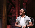 "Daniel Yearwood during the Q & A before The Rockefeller Foundation and The Gilder Lehrman Institute of American History sponsored High School student #eduHAM matinee performance of ""Hamilton"" at the Richard Rodgers Theatre on 3/12/2020 in New York City."