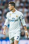 Cristiano Ronaldo of Real Madrid looks on during their 2016-17 UEFA Champions League Semifinals 1st leg match between Real Madrid and Atletico de Madrid at the Estadio Santiago Bernabeu on 02 May 2017 in Madrid, Spain. Photo by Diego Gonzalez Souto / Power Sport Images
