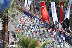 The start of Stage 6 of the 2015 Presidential Tour of Turkey running 184km from Denizli to Selcuk. 30th April 2015.<br /> Photo: Tour of Turkey/Mario Stiehl/www.newsfile.ie
