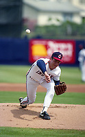 Cleveland Indians pitcher Mike Bielecki (37) during Spring Training 1992 at Chain of Lakes Park in Winter Haven, Florida.  (MJA/Four Seam Images)