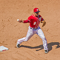 26 April 2014: Washington Nationals infielder Danny Espinosa in action against the San Diego Padres at Nationals Park in Washington, DC. The Nationals shut out the Padres 4-0 to take the third game of their 4-game series. Mandatory Credit: Ed Wolfstein Photo *** RAW (NEF) Image File Available ***