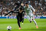 Neymar da Silva Santos Junior, Neymar Jr (L), of Paris Saint Germain fights for the ball with Carlos Henrique Casemiro of Real Madrid during the UEFA Champions League 2017-18 Round of 16 (1st leg) match between Real Madrid vs Paris Saint Germain at Estadio Santiago Bernabeu on February 14 2018 in Madrid, Spain. Photo by Diego Souto / Power Sport Images