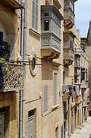 in der Altstadt von Valletta, Malta, Europa, Unesco-Weltkulturerbe