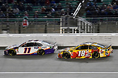 #11: Denny Hamlin, Joe Gibbs Racing, Toyota Camry FedEx Freight and #18: Kyle Busch, Joe Gibbs Racing, Toyota Camry M&M's Red Nose Day